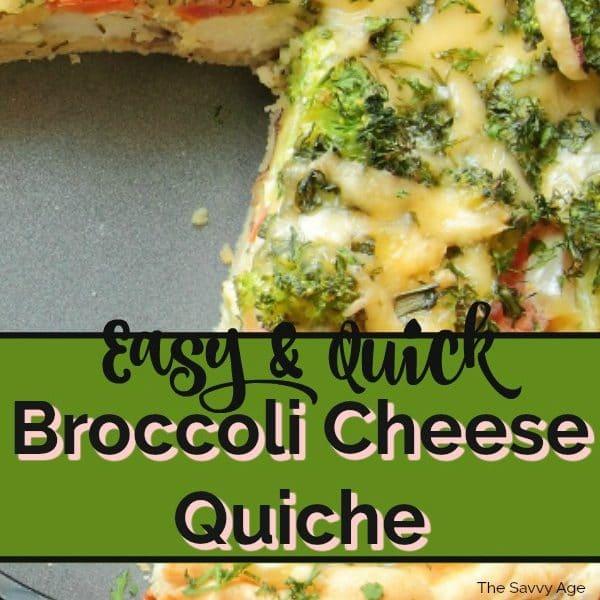 Easy Broccoli Cheese Quiche Recipe