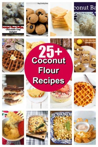 Collage of coconut flour recipes