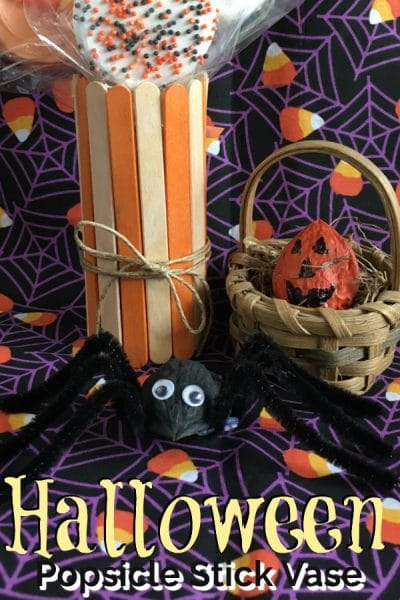 Halloween Popsicle Stick Vase Dollar Store The Savvy Age