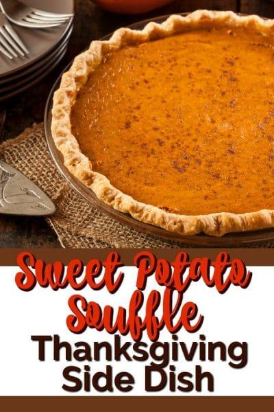 Sweet potato souffle with crust