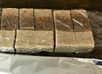 fudge blocks cut into squares