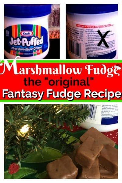 marshmallow fluff jars with fudge recipe and fudge squares