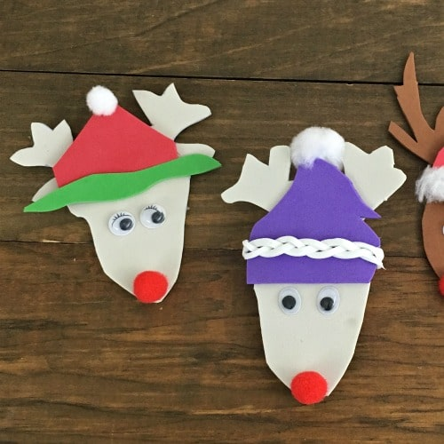 Easy Recycled Reindeer Ornaments (from a box!)