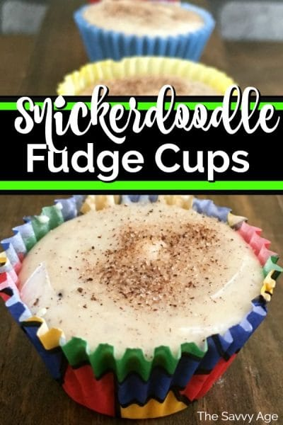 Snickerdoodle fudge cups