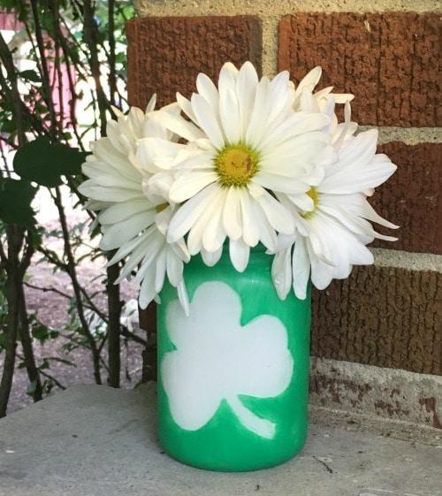 St. Patrick's Day Shamrock Mason Jar