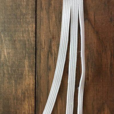 Elastic cord cut apart.